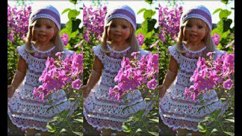 Платье Цветочная феечка .МК по вязанию кокетки -1 часть . Моя авторская работа 2013 года.