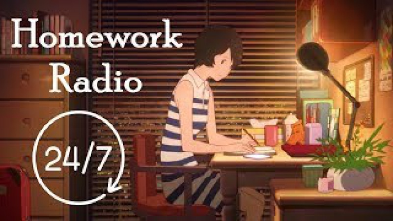 🍀 Lofi Hip Hop Ambient Radio 247 music live-stream 🎧 Homework Radio is here for you!