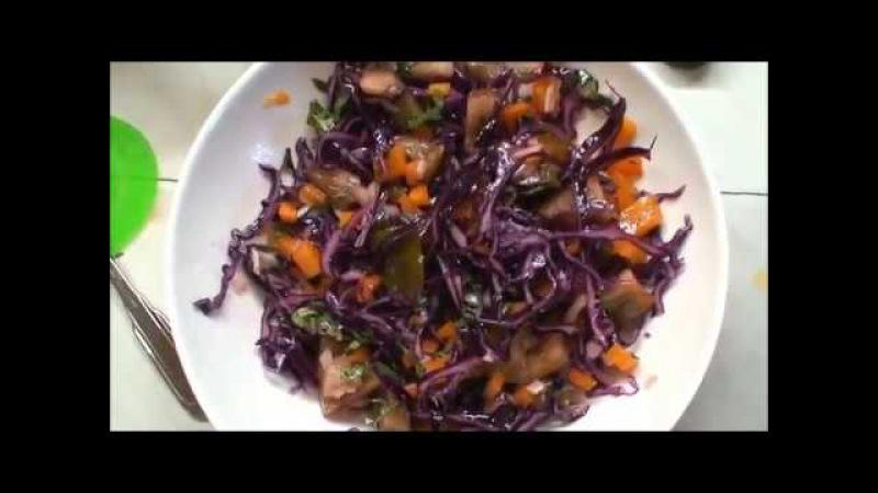 Салат из капусты и помидоров. Салат из краснокочанной капусты рецепт: