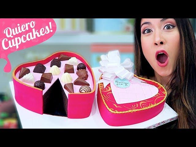 TARTA CAJA DE BOMBONES   Especial San Valentín   Quiero Cupcakes!