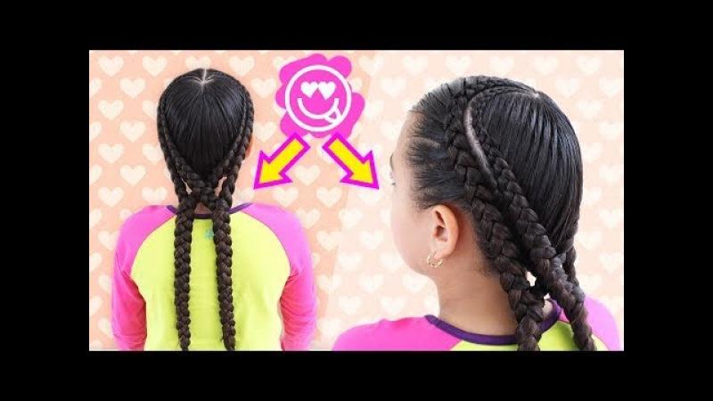 Peinados con trenzas en doble corazón con estilo trenza africana | Pienados deportivos con trenzas