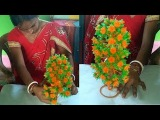(GULDASTA) CraftIdeas For Decoration // Beautiful Trees And Flowers // Christmas Tree