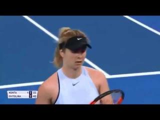 Элина Свитолина победила Конту и вышла в полуфинал турнира в Брисбене ТЕННИС
