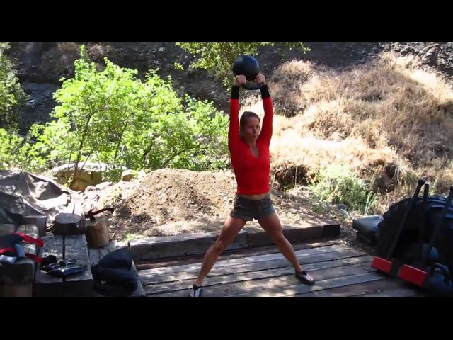 Kettlebell Cossack Squat with an Overhead Press - CoachTara Style kettlebell cossack squat with an overhead press - coachtara st