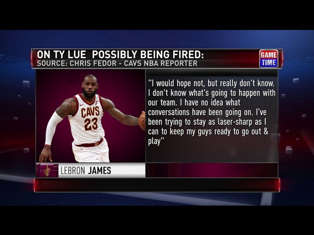 GameTime: LeBron James on Tyronn Lue's Job Security | January 21, 2018 | 2017-18 NBA Season