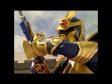 Solaris Knight First Morph and Fight Power Rangers Mystic Force Solar Eclipse