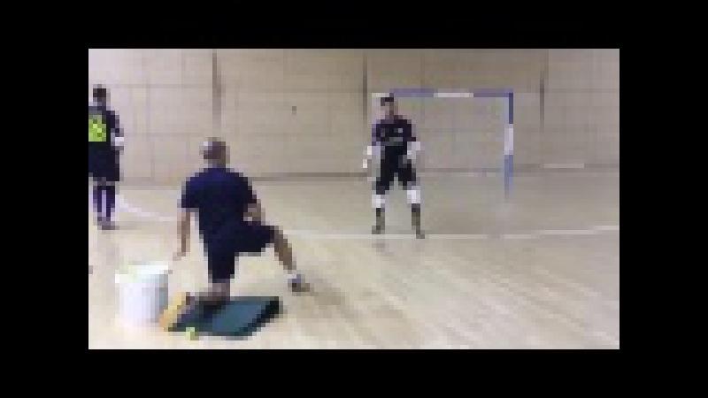 Тренировка вратарей Барселоны (мини-футбол, futsal, futbol sala)