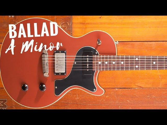 Ballad Guitar Backing Track Jam in Am