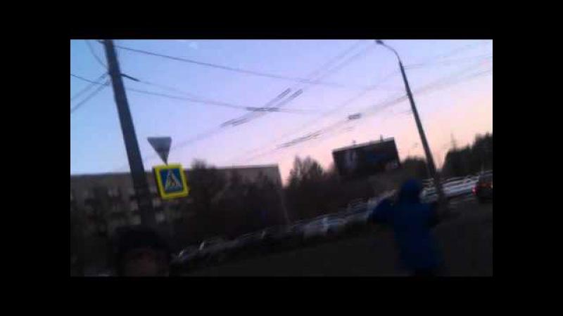 Падение метеорита в Челябинске.Жесть!(ЛУЧШЕЕ ВИДЕО)