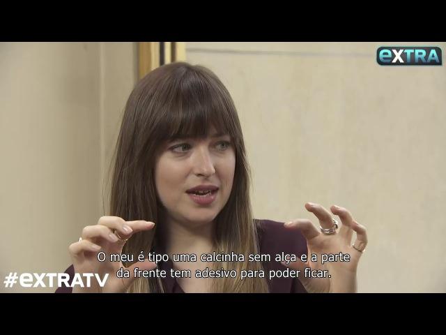 [LEGENDADO] Dakota Johnson e Jamie Dornan são entrevistados pelo ExtraTV