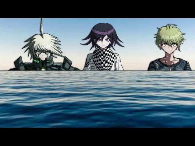 Ouma, Amami, and Kiibo go to the beach