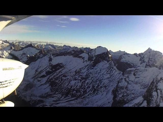 Flight from Queenstown to Milford Sound, NZ