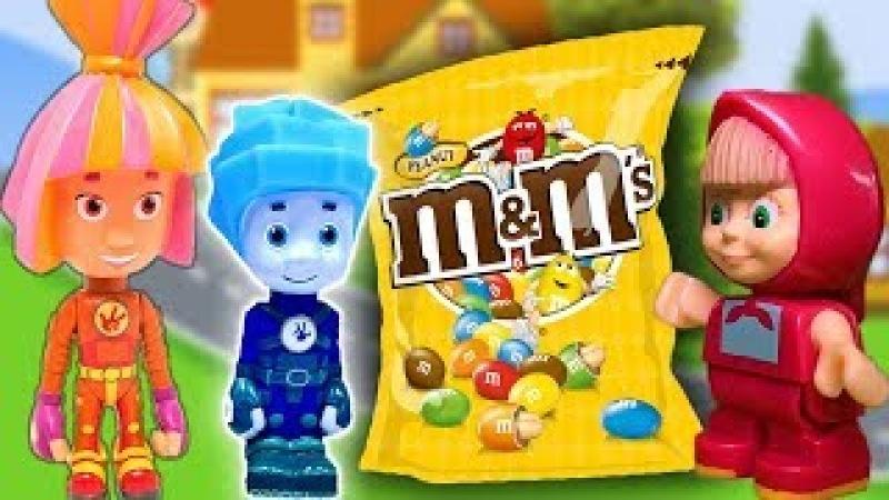 Фиксики – Шоколад (Новые серии 2017). Много сладкого – вредно! Маша и Медведь игрушки. Мультики!