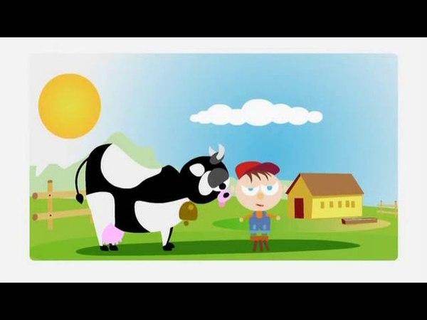 Корова мультфильм про деревенское животное Bos taurus