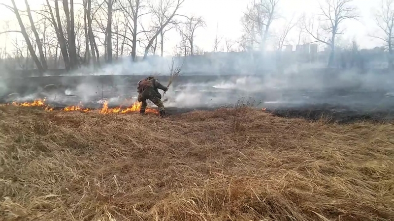 тушу пожар на татышева