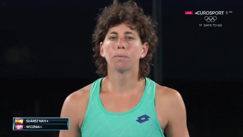 Wozniacki reaches the semi-finals of the AusOpen after a hard-fought battle against Suarez Navarro 👏