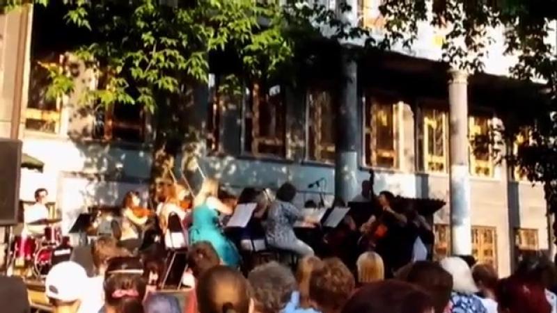 2017-07-22 Камерный оркестр Виола. Концерт во дворе библиотеки им Крупской