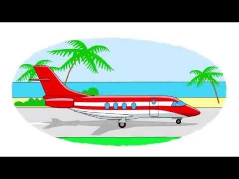 Das Zeichentrick-Malbuch. Farben lernen – Lufttransportmittel, Teil 1.