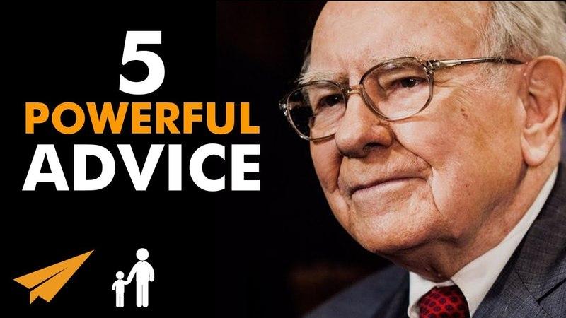 5 SIMPLE, But Very POWERFUL ADVICE From Warren Buffett - MentorMeWarren