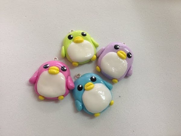 Tutorial Pingüino Kawaii - Porcelana Fria / Kawaii Penguin Charm Tutorial - Cold Porcelain