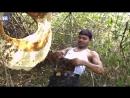 Индус засовывает пчел себе под майку чтобы они не мешали ему собирать мед