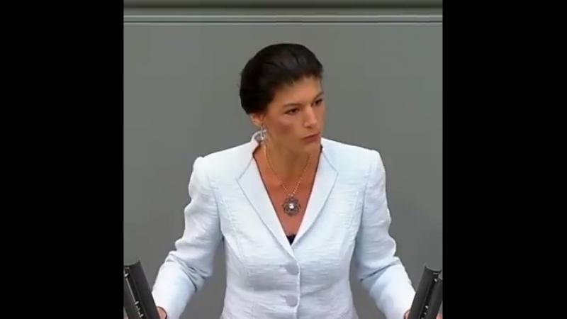 Sahra Wagenknecht heute im Bundestag