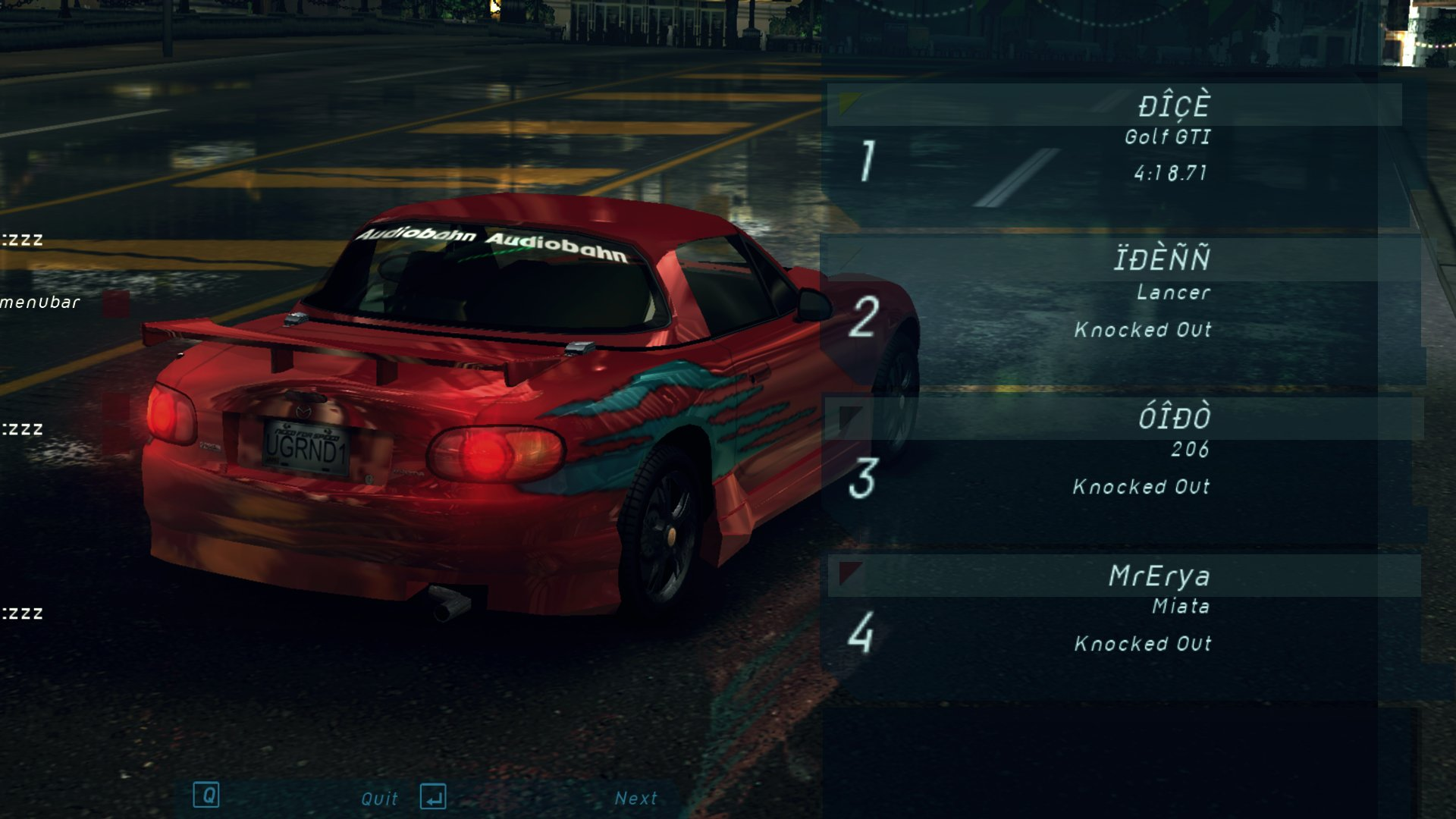 NFS: Underground: Redux Mod для Другие игры - Скриншот 1