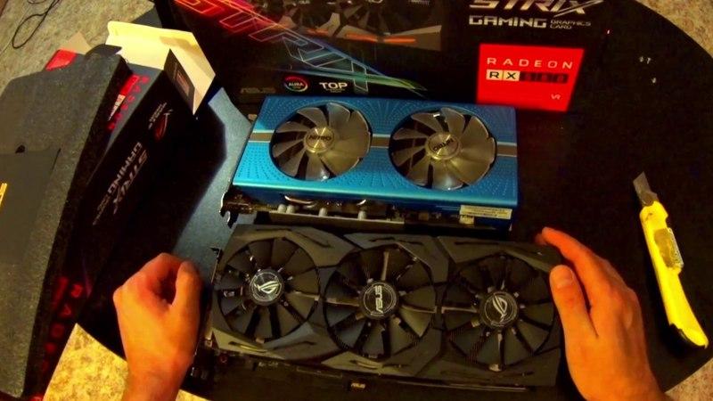 Видеокарта ASUS Radeon RX 580 1360Mhz 8192Mb Strix OC Gaming TOP | обзор и распаковка