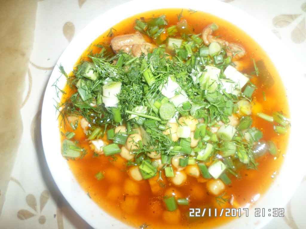 суп с нутом по узбекски