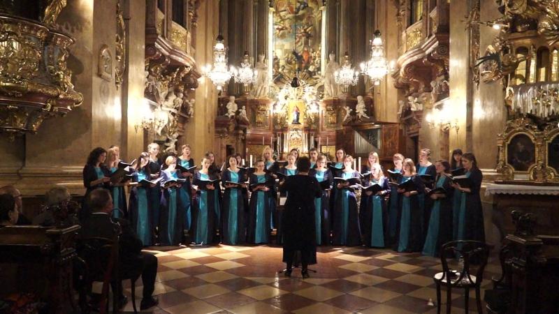 Sanctus K. Penderecki, камерный хор Классика, собор Св. Петра, Вена (Peterskirche, Vienna)