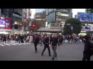 Рой Мейер на перекрестке в Токио