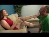 Worship black heels and sexy nude pantyhose feet