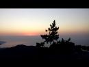 Первые секунды восхода солнца с вершины Ай-Петри