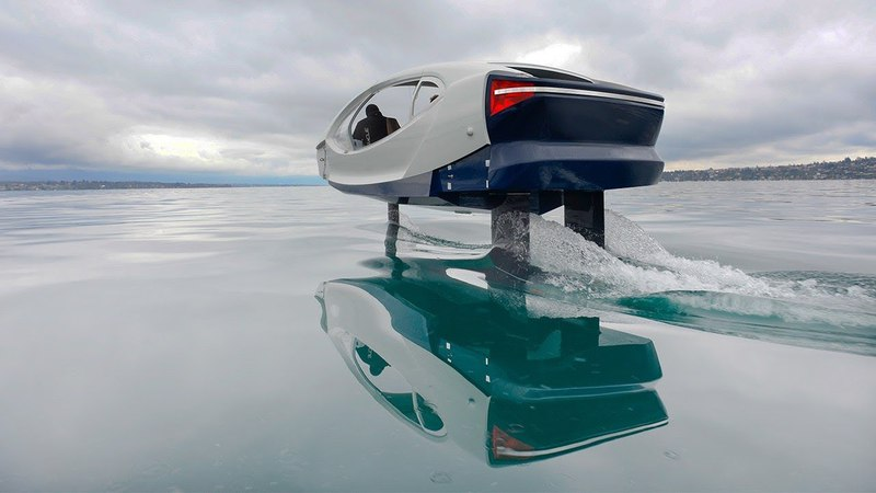 SeaBubbles testing the Fly By Wire control system