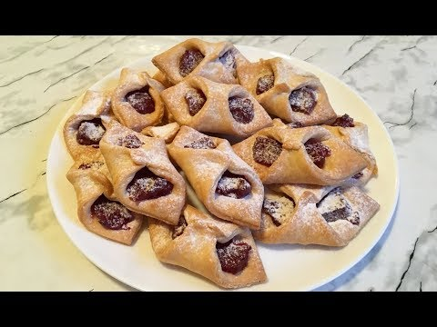 Печенье Конвертики / Cookies With Jam Recipe / Печенье с Джемом / Очень Простой Рецепт