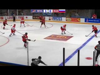 Суперсерия 2017, Россия U20 – Канада (WHL) 4:3, Обзор матча