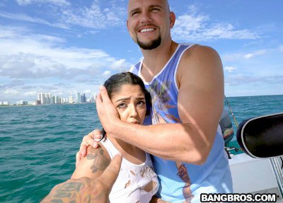Cuban Hottie Gets Rescued at Sea
