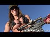 Adult Film Star Ariella Ferrera Shoots The Romanian PSL Rifle