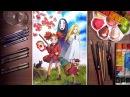 Mary and Ghibli friends(Ponyo, Marnie, Arrietty, Kaonashi) | drawholic