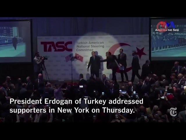 Presiden Erdogan diteriaki Teroris. Lihat apa yg terjadi selanjutnya . 21/09/2017