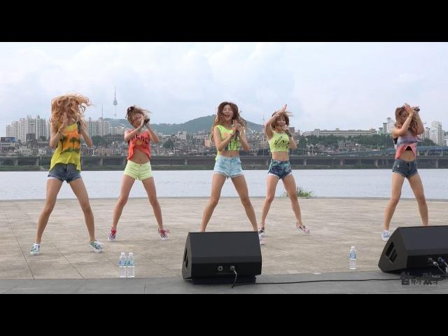 20150809 밍스(MINX) Love Shake @한강공원 버스킹 직캠 by 험하게컸다