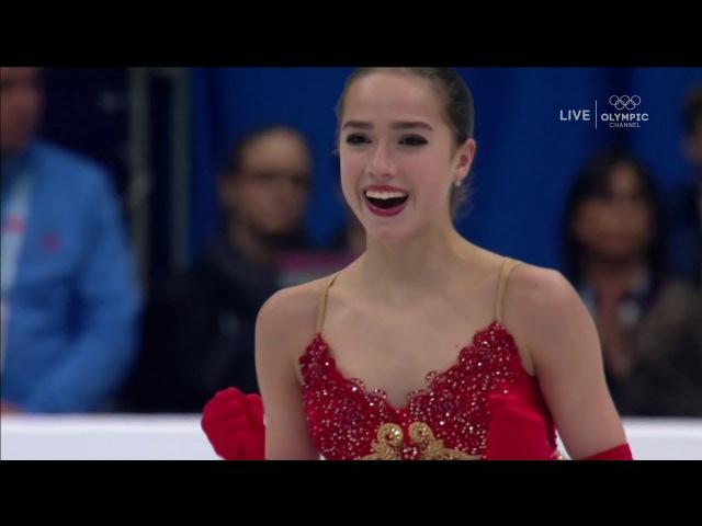 ALINA ZAGITOVA 2018 FREE SKATING EUROPE (NBC Sports / OLYMPIC CHANNEL HD)