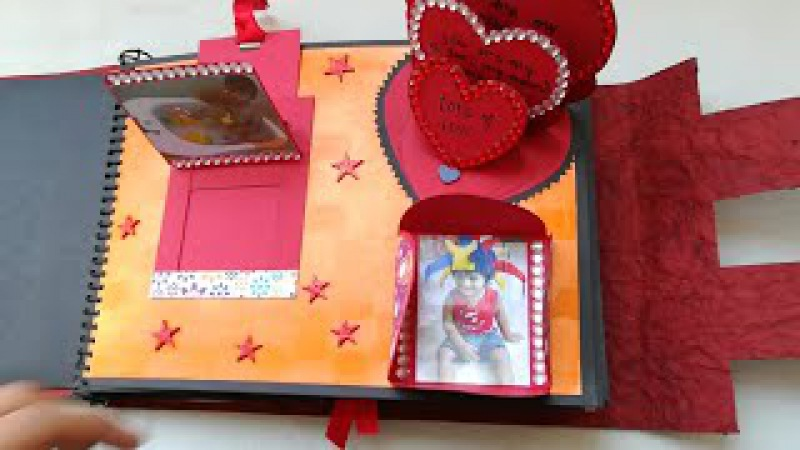 SCRAPBOOK for birthday, for friends, someone special