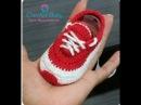 Explicação Sapatinho ICARO de crochê - Tamanho RN - Crochet Baby Yara Nascimento