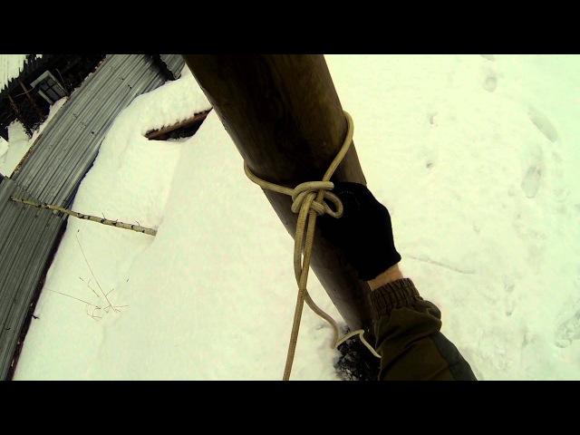 Вяжем быстросъемные узлы. Ведерный узел, калмыцкий узел, шкотовый узел. Часть 2