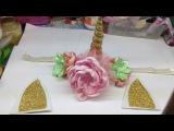 Como hacer una diadema de unicornio para bebe/ unicornio hairbow