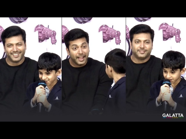 Aarav is a proud 'Velaikkaran'! Cute Speech with Jayam Ravi   Tik Tik Tik Audio Launch