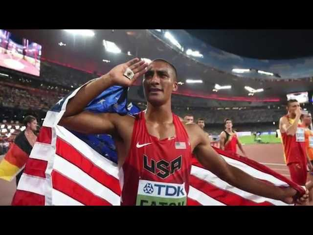 Ashton Eaton Decathlon World Record 9045 - 2015 IAAF World Championships