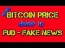 The Bitcoin Price Drop Is Fud - Fake News