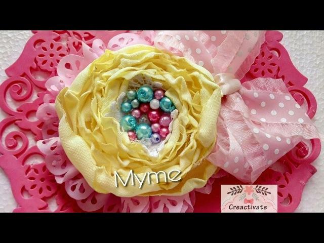 Flor capullo de tela tergal/ nivel Principiante/ flores de tela fáciles /tiaras/manualidades/Balacas